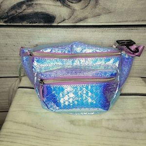 NEW Purple and blue iridescent fanny pack